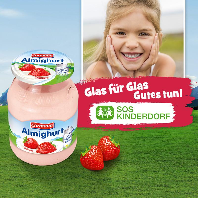 Jetzt Almighurt kaufen und SOS-Kinderdorf unterstützen!