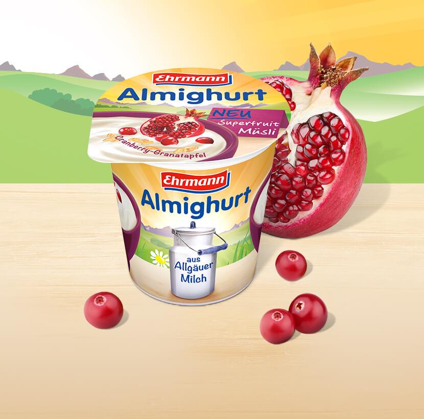 Almighurt Müsli  - Der leckere Trend-Snack zum Frühstück oder zwischendurch