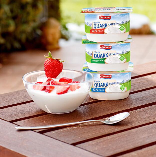 Natürlich, mild und cremig:<br>Frische Quark-Creme von Ehrmann