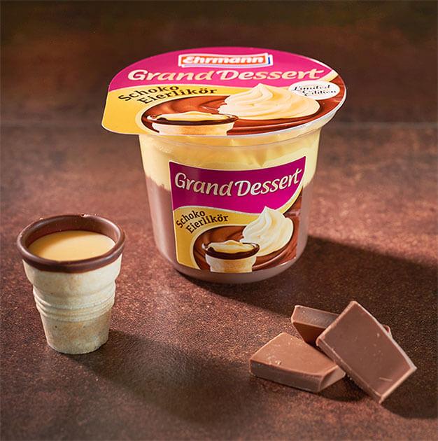 Genussmomente garantiert:<br>Grand Dessert Schoko Eierlikör.