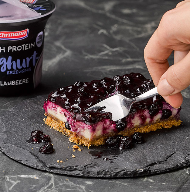 High Protein Blueberry Cheescake