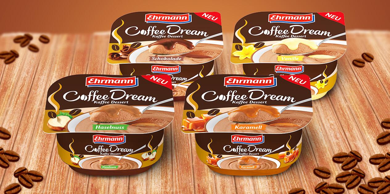 Traumhafter Genuss für Aufgeweckte: CoffeeDream in vier leckeren Sorten.